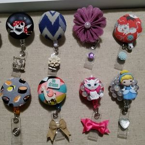 ID Reel Badge Holders, hand made.Mix and Match.